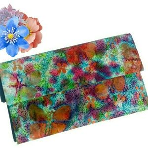 Water Color Clutch Purse